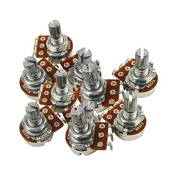 IKN Guitarra Eléctrica Mini Potenciómetro ohm A250k L15mm Potenciómetro Audio Potenciómetro Volumen con Bayoneta, Paquete de 10pcs: Amazon.es: Instrumentos ...