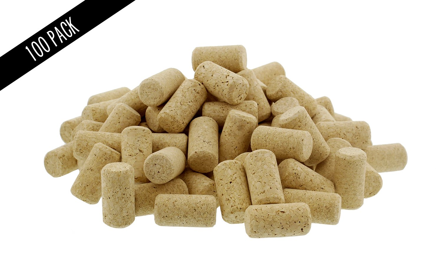 """Premium Bulk Wine Corks 1-¾"""" x 15/16"""" Fit Most Bottles, 100 Pack, Natural Straight & Non-Recycled #9"""