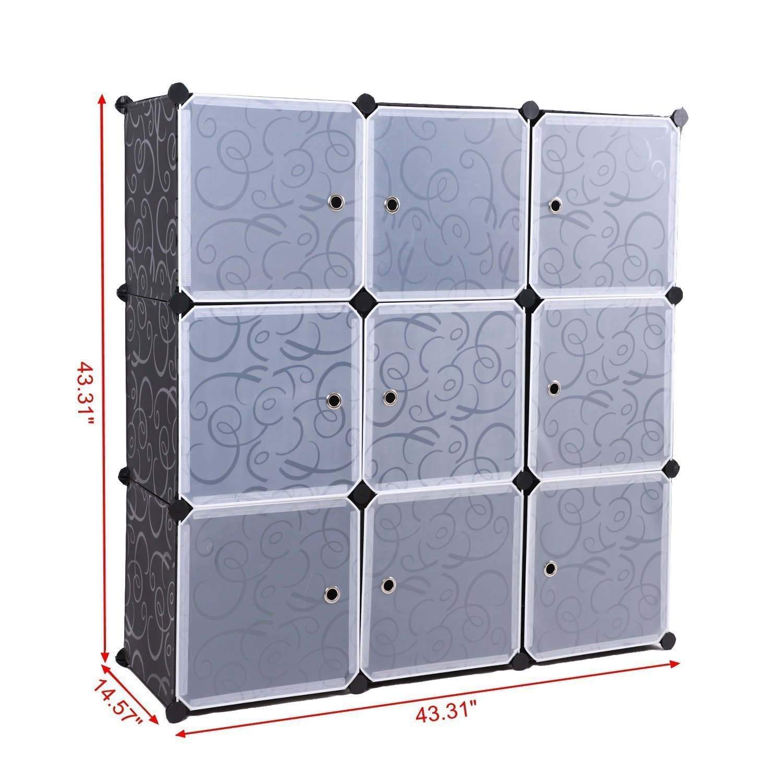 Storage Cube Organizer Plastic 6 Diy Modular Cabinet Wiring Harness Ford 4 Engine Portable 3 Tier Bookcase Shelf Closet
