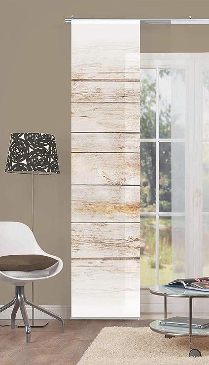 0af98144d0aa9d Amazon.de: HOME WOHNIDEEN Schiebevorhang Deko Blickdicht Board Größe BxH  60x245 cm Fb. braun
