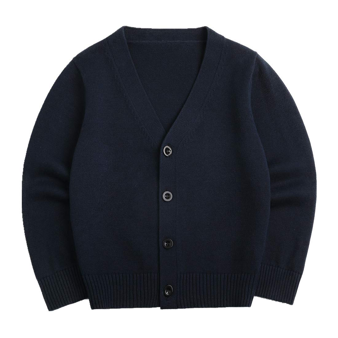 Sooxiwood Little Boys Cardigan Coat V-Neck Striped Size 6 Navy