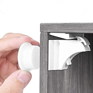 Baby Proofing Magnetic Child Safety Locks for Cabinet Cupboard Drawer Doors 20 Locks 3 Keys