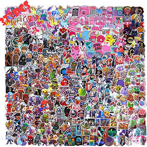 Comic Stickers Pack for Laptop(373pcs),Graffiti Cute Decals for Kids,Skateboard,PS4,Xbox one,iPhone,Superhero Party Favors for Girls,Adults,Teens,Boys]()