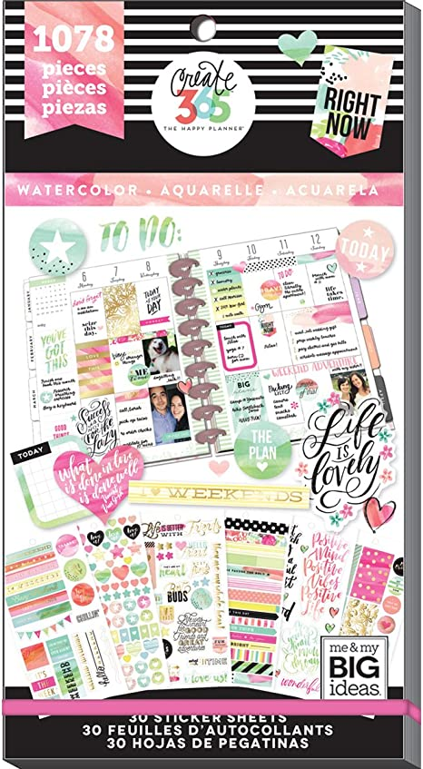 MAMBI The Happy Planner Tiny Sticker Pad 20 Sheets Make Things Happen