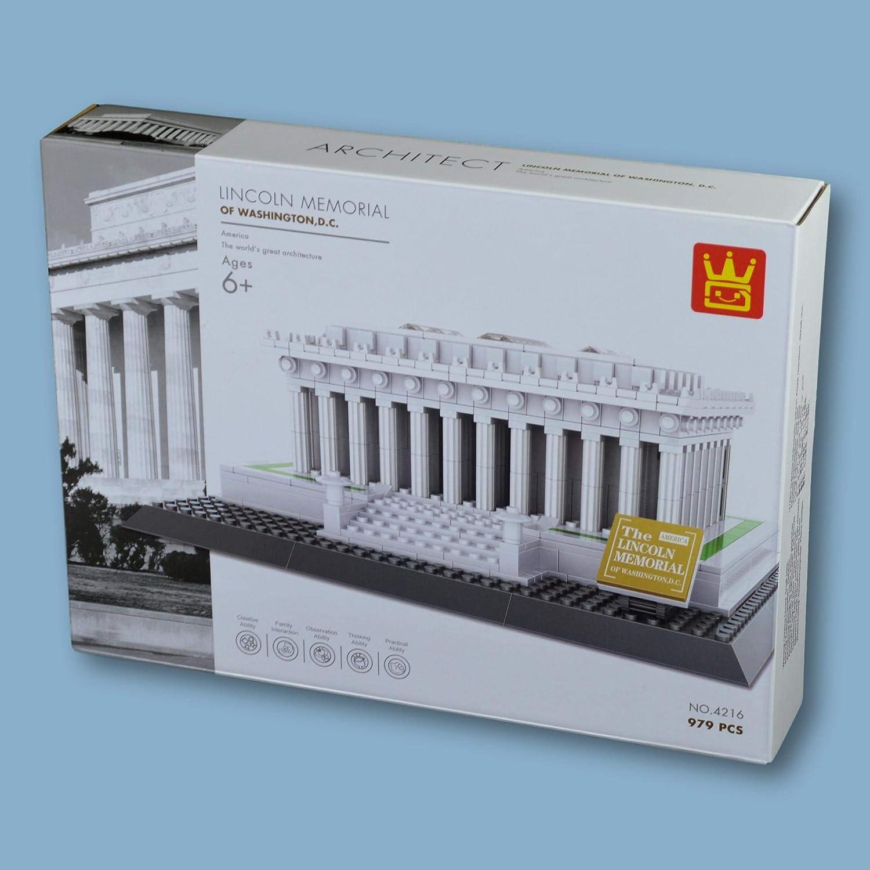 Casa Bianca di Washington. Modello d\'architettura da assemblare con mattoncini Lincoln Memorial