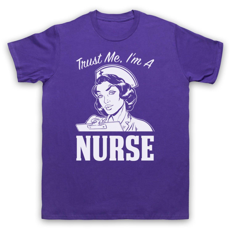 Trust Me I'm A Nurse Funny Work Slogan Herren T-Shirt: Amazon.de: Bekleidung