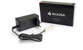 INJUSA - Batería de Litio y Cargador de 6V con Autonomía de ...