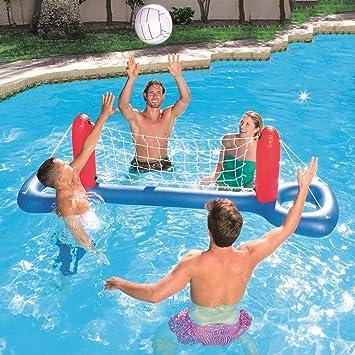 LCYCN Flotador Juguete Hinchable para Piscina,Juguetes inflables de Playa- Piscina Infantil para niños-Voleibol Inflable, Stand de Baloncesto Balonmano Deportes acuáticos,C: Amazon.es: Deportes y aire libre