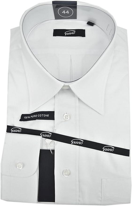 Grino Firenze el Hombre de La Camisa Blanca Clásica Oxford Collar de Italia - 17½ Años de Edad 44: Amazon.es: Ropa y accesorios
