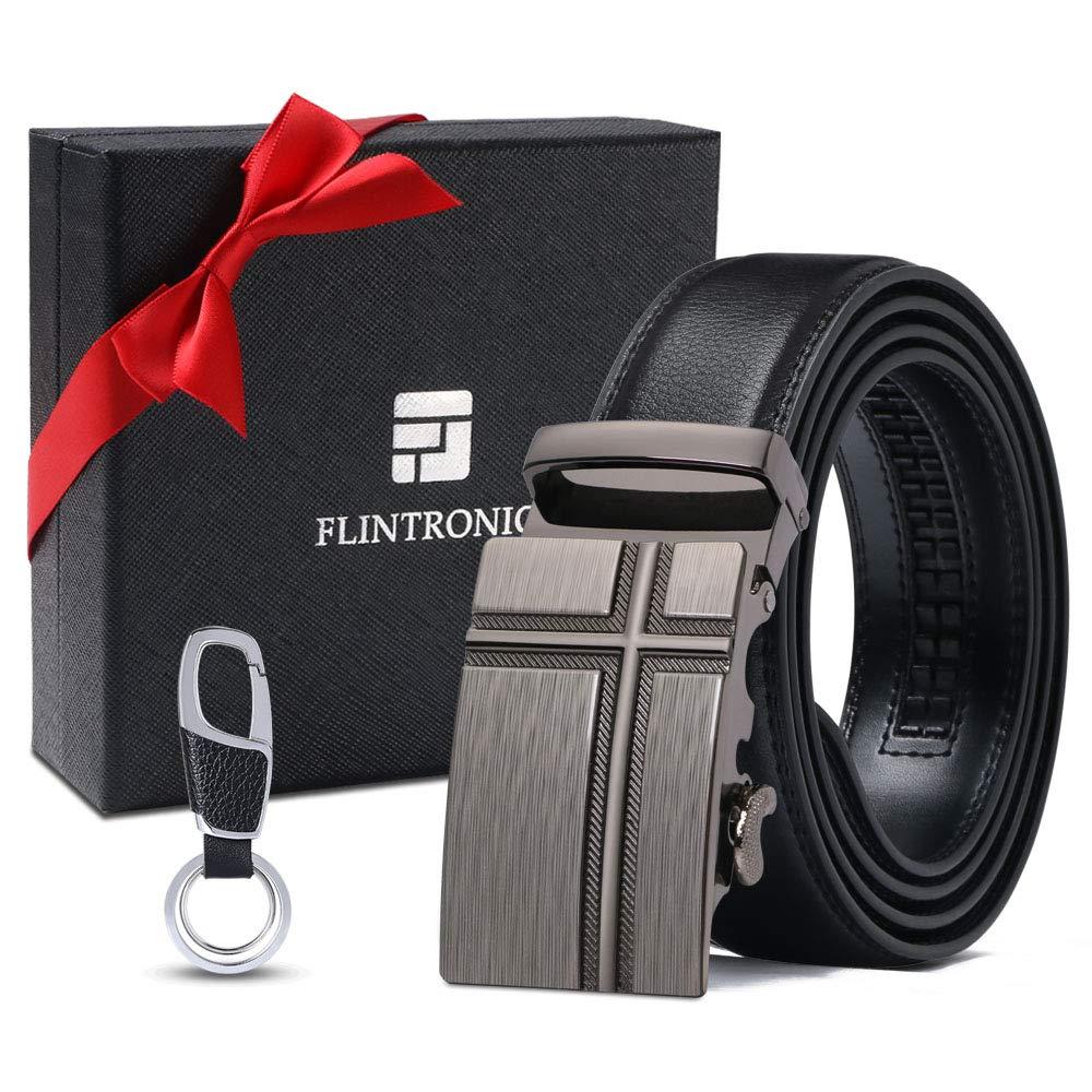 Cinturones Piel con Hebilla Autom/ática flintronic /® Cintur/ón Cuero Hombre Sencillo y Cl/ásico Perfecto Regalo