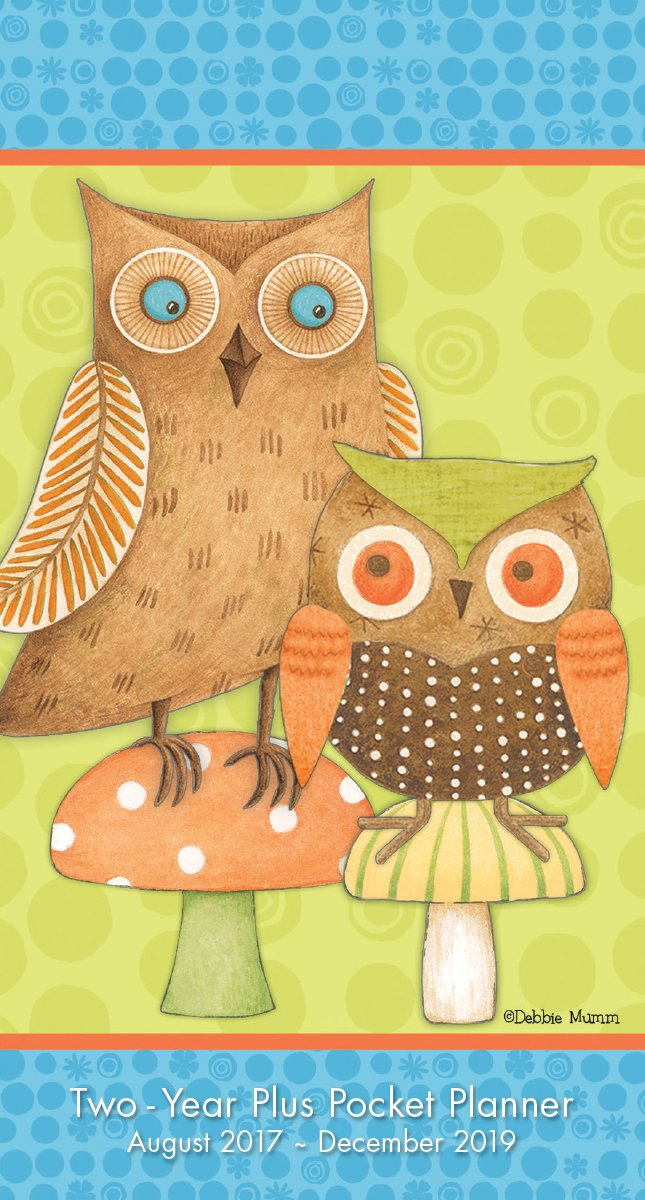 Owls - Debbie Mumm 2018 Checkbook/2 Year Pocket Planner Calendar (CC0283)