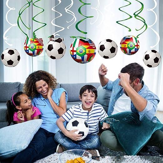 30 piezas colgantes de remolinos para decoración de fútbol ...