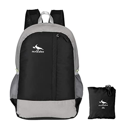 Amazon.com   Famebird Durable Lightweight Packable Hiking Backpack ... 9ee8d7f0f175a