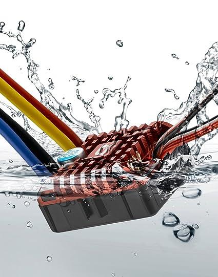Hobbywing Electronic Wing 30112750 Quicrun Wp1080 Waterproof Rock Crawler  Brushed ESC Speed Control