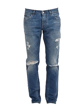 DOLCE E GABBANA Herren Gy70ldg8x91s9001 Blau Baumwolle Jeans