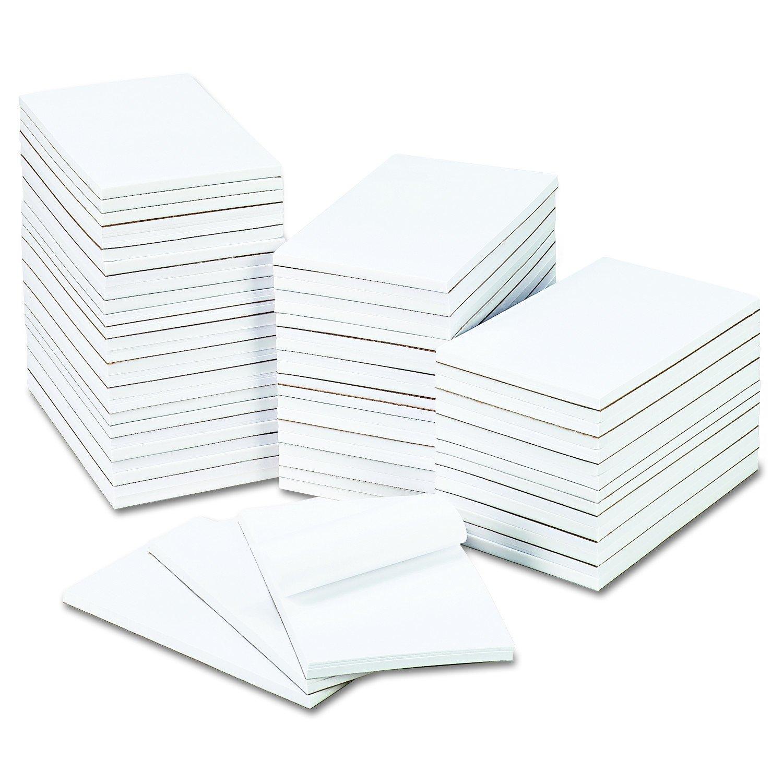 Universal Bulk Scratch Pads, Unruled, 5'' x 8'', White, 100-Sheet Pads, 64 Pads/Carton (35625)