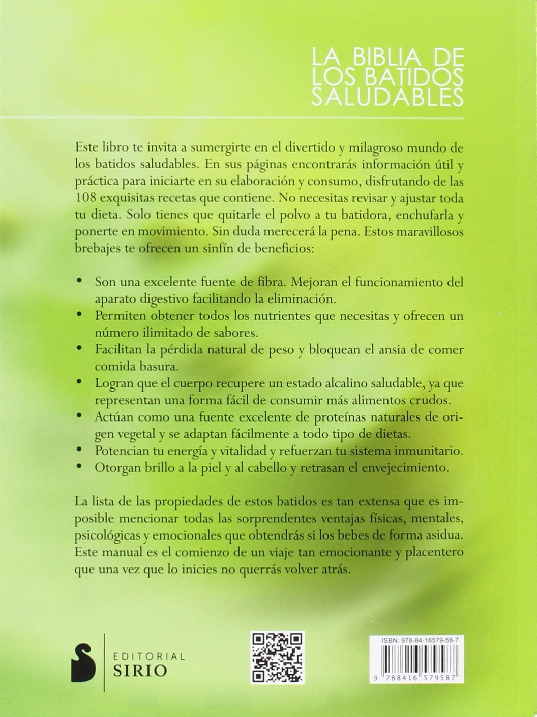 Amazon.com: La biblia de los batidos saludables (Spanish Edition) (9788416579587): Farnoosh Brock: Books