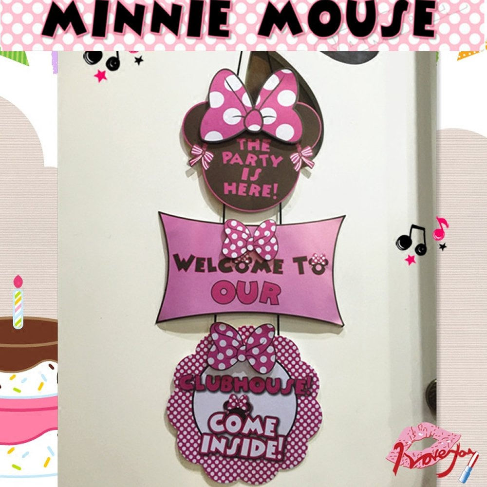 Amazon.com: Minnie Mouse Birthday Decorations for Girls with ...