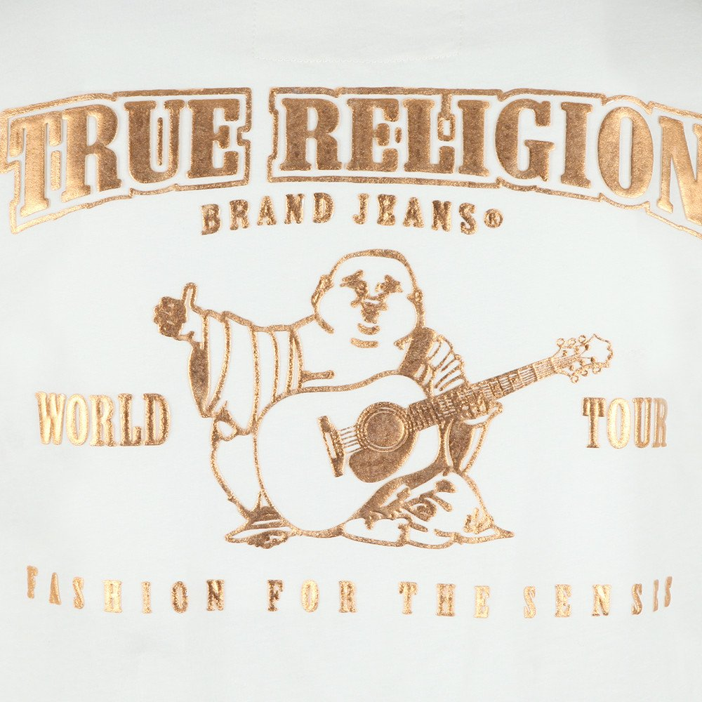 True Religion Mens Double Puff Short Sleeve T-Shirt MD086C067