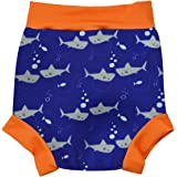 Happy Nappy HNSOXL Baby and Toddler Reusable Swim Diaper, Shark Orange, X Large 12-24 Months
