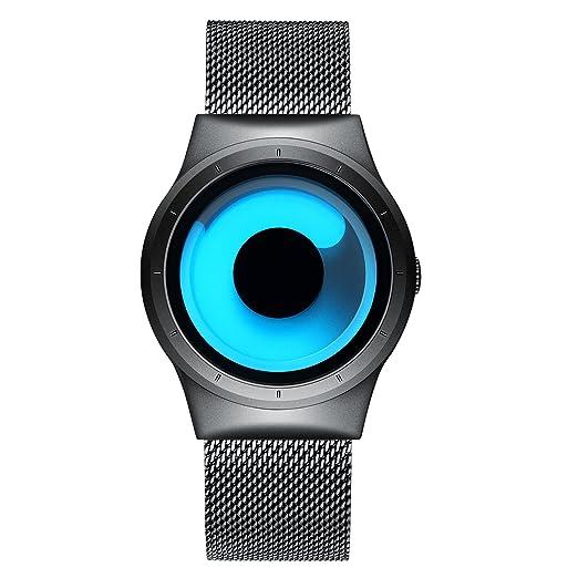 Para hombre Fashion relojes de cuarzo impermeable de lujo elegante reloj de pulsera con banda de