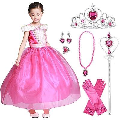 LOEL Girls New Princess Party Costume Long Dress: Clothing
