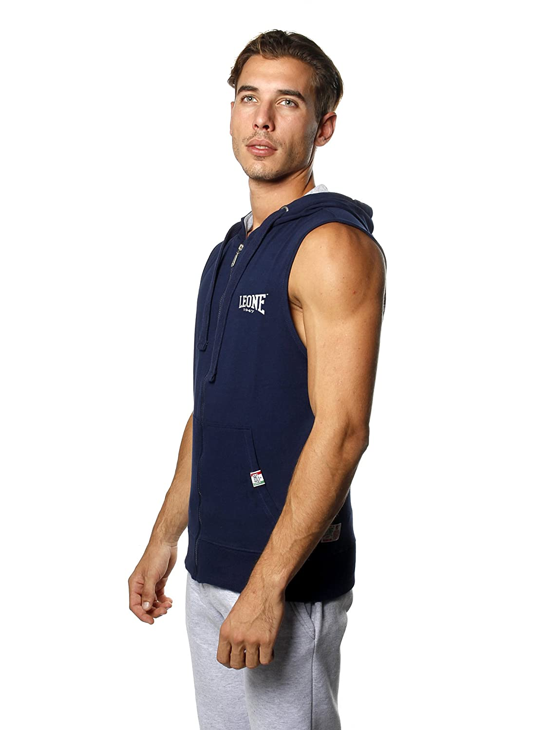 LEONE 1947/Never Out Stocks Never Out Stock Mens Sleeveless Hoodie Mens