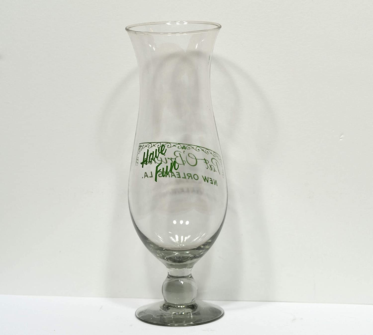 "Pat O/'Brien/'s New Orleans Have Fun Hurricane Cocktail Glass 10/"" Tall"