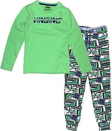 Vingino Wicks - Pijama para chico, color verde neón verde ...