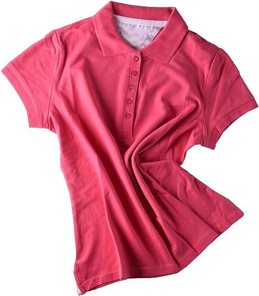 Moda Basic Polo Camiseta para mujeres en negro, gris jaspeado ...