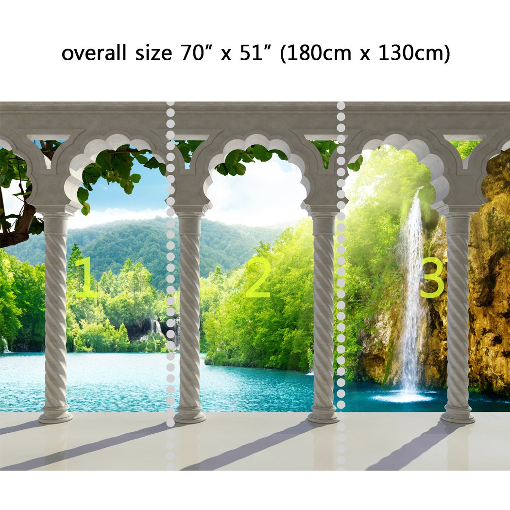wall mural waterfall in deep forest arch structure peel and stick wall mural waterfall in deep forest arch structure peel and stick repositionable fabric wallpaper for interior home decor 70 x 51 inches amazon com