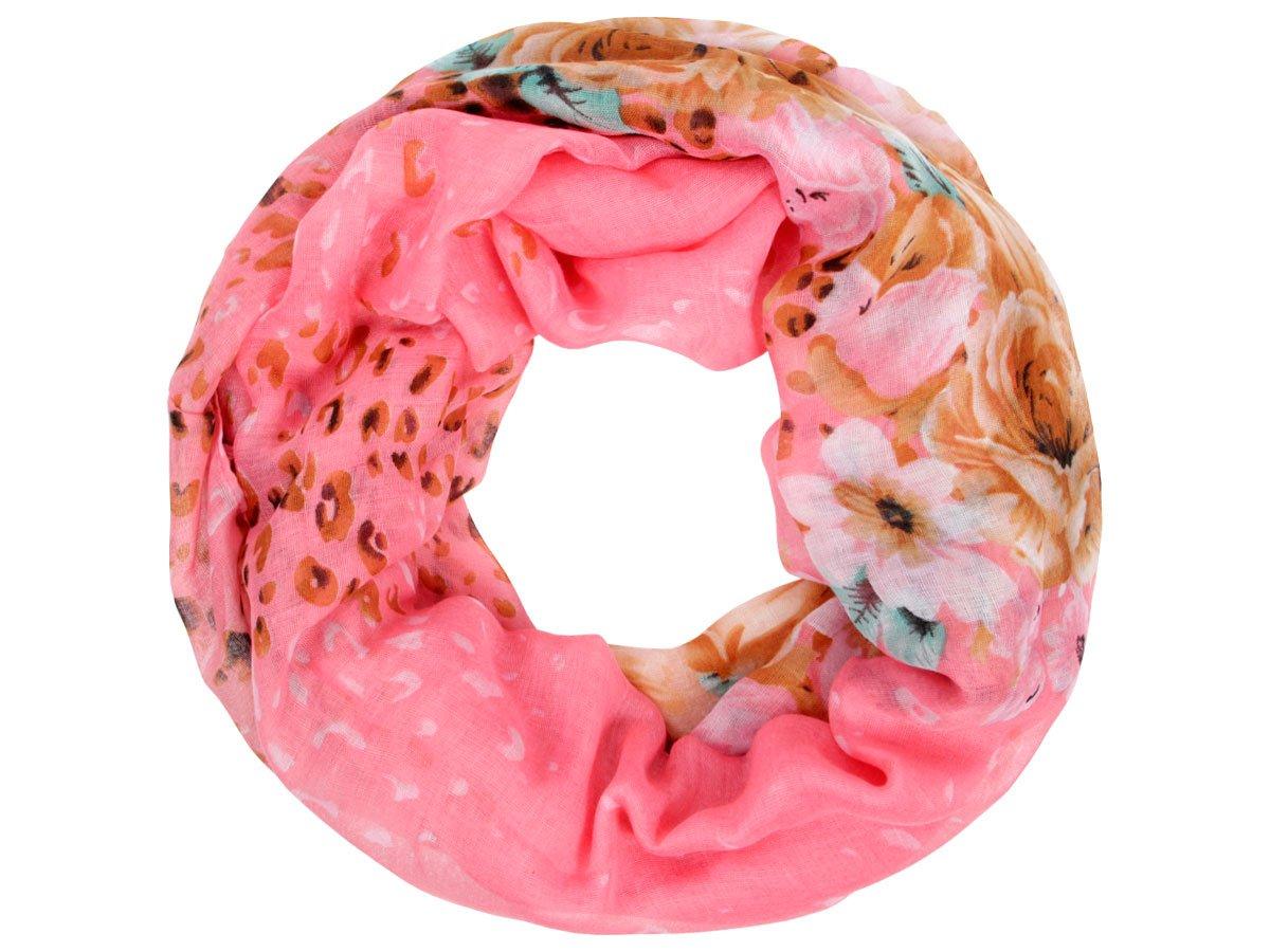 Sciarpa a tubo circolare, foulard da donna leggero e morbido estate primavera autunno inverno loop a...