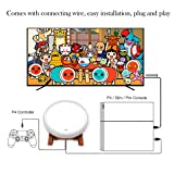 abcGoodefg Taiko No Tatsujin Master Drum Controller Sticks for Sony PS4 Slim Pro - Japanese Traditional Instrument Controller Console Gaming Accessories for PS4