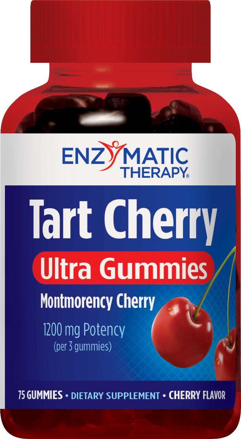 Enzymatic Therapy Tart Cherry Ultra Gummies Supplement, Cherry, 75 Count