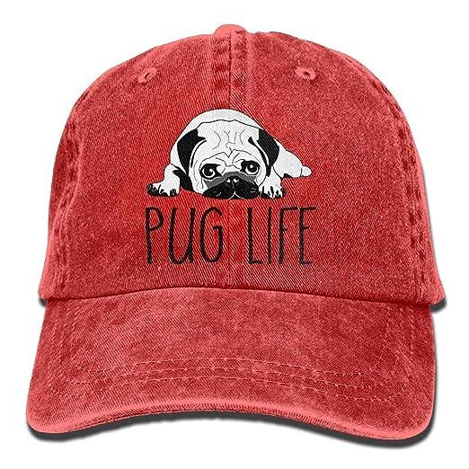 noerese Pug Life Denim Baseball Caps Cool Summer Hat Adjustable ... 5191f5843