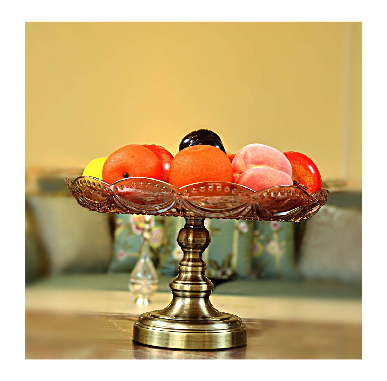 HARDY-YI クリスタルガラスフルーツプレートヨーロッパのホテルの装飾用具新しい家の贈り物クリスタル工芸品ドライフルーツプレート -フルーツバスケット   B07PJD94JC