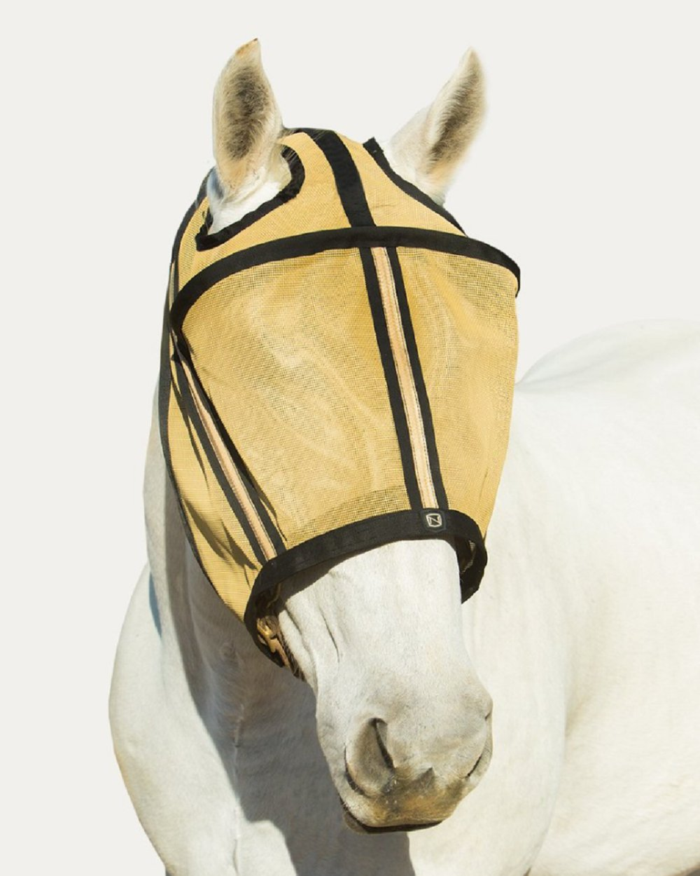Noble Outfitters Guardsman Fly Mask Protection Gold Standard Small Horse UV/UPF 25+