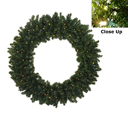 darice 36 pre lit battery operated canadian pine christmas wreath clear led lights - Pre Lit Christmas Wreaths Battery Operated