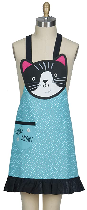 4a50f474e479e Amazon.com: Kay Dee Designs Crazy Cat Child Apron Kitchen Towel ...