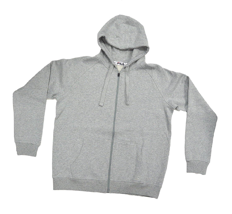 e77a1189cb3f Amazon.com  Fila Full Zip Hooded Soft Fleece Men s Sweatshirt with Media  Pocket (M