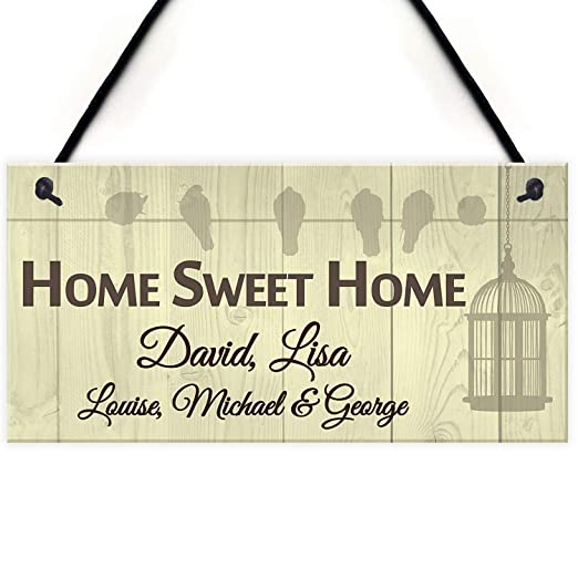 Mr.sign Home Sweet Home Cartel de Pared Madera Placa Madera ...