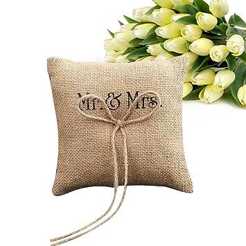 zreal almohada anillo de boda cojín de anillo MR & Mme ...