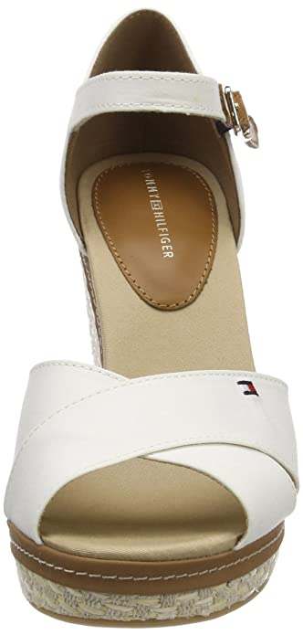 Amazon.com: Tommy Hilfiger Womens Iconic Elena Basic Espadrilles, White (Whisper White 121), 6 UK: Shoes