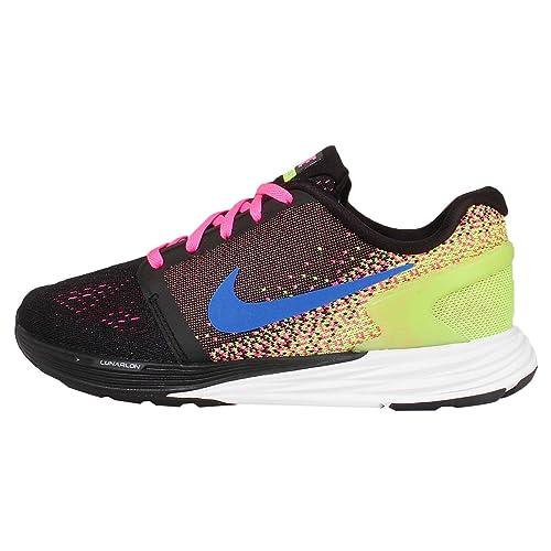 pretty nice 118c9 c231d Nike Lunarglide 7 (GS), Zapatillas de Running para Niñas,  Negro Azul Blanco Verde (Black Photo Blue-White-Volt), 36 EU  Amazon.es   Zapatos y complementos