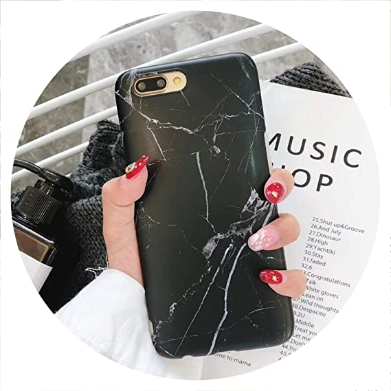 Amazon.com: Luxury Marble Phone Case for iPhone 8 7 Plus X ...