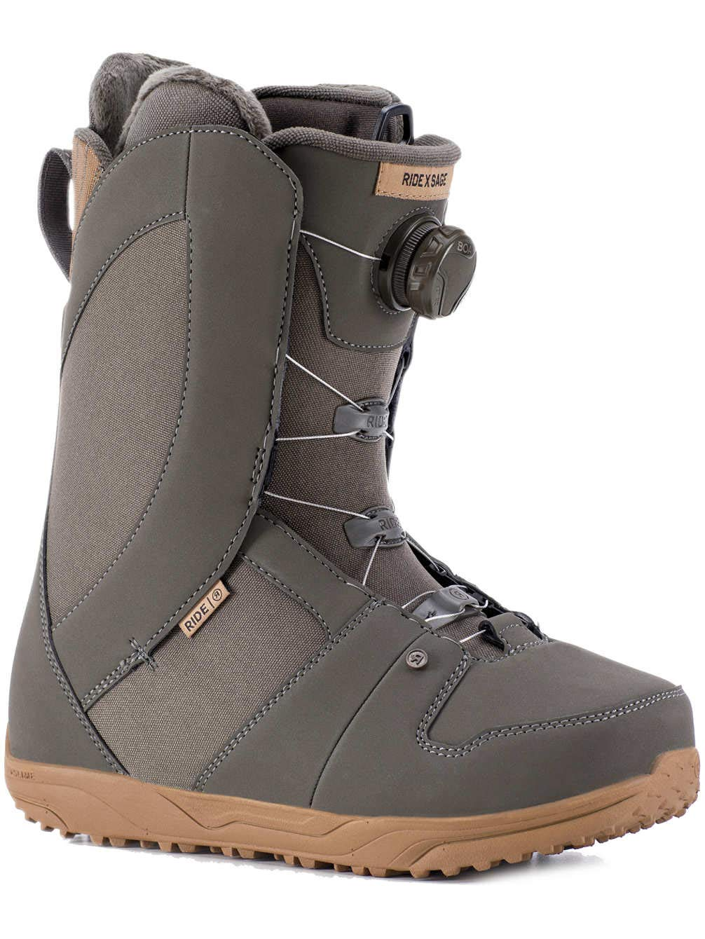 Ride Sage Boa Coiler Womens Snowboard Boots 2019-8.5/Taupe by Ride