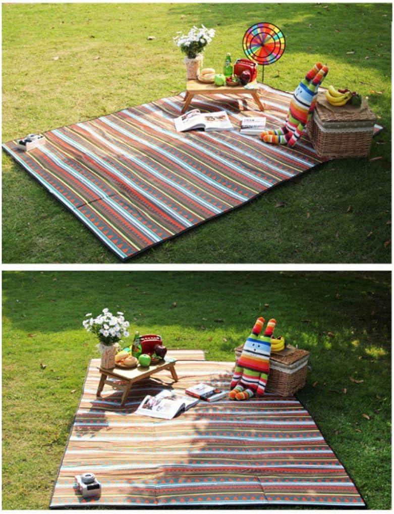 HomeMiYN Nappe Imperm/éable Pique-Nique Pliable Portable pour Camping Jardin avec Poign/ée R/ésistant au Sable Plage Couverture Tapis Tapis de Tapis