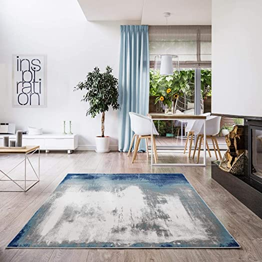 Luxe Weavers Victoria Abstract Blue 9×12 Area Rug 9151