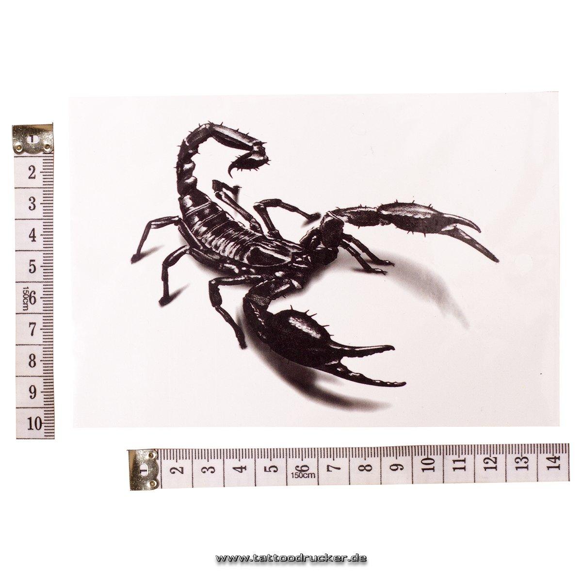 Black Scorpion 3d Tattoo – Escorpión Tattoo – temporales tatuaje ...