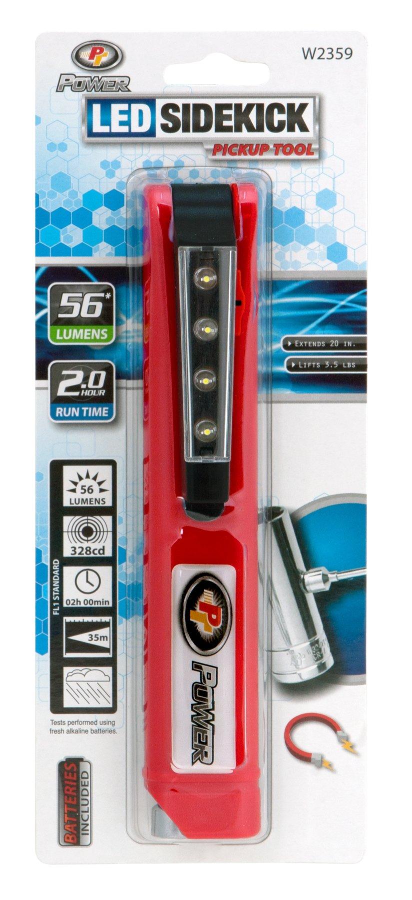 Performance Tool W2359 56 Lumen LED Sidekick Pickup Tool (Sold as 1 Flashlight)